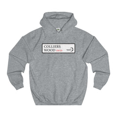 Colliers Wood Road Sign SW19 Hoodie