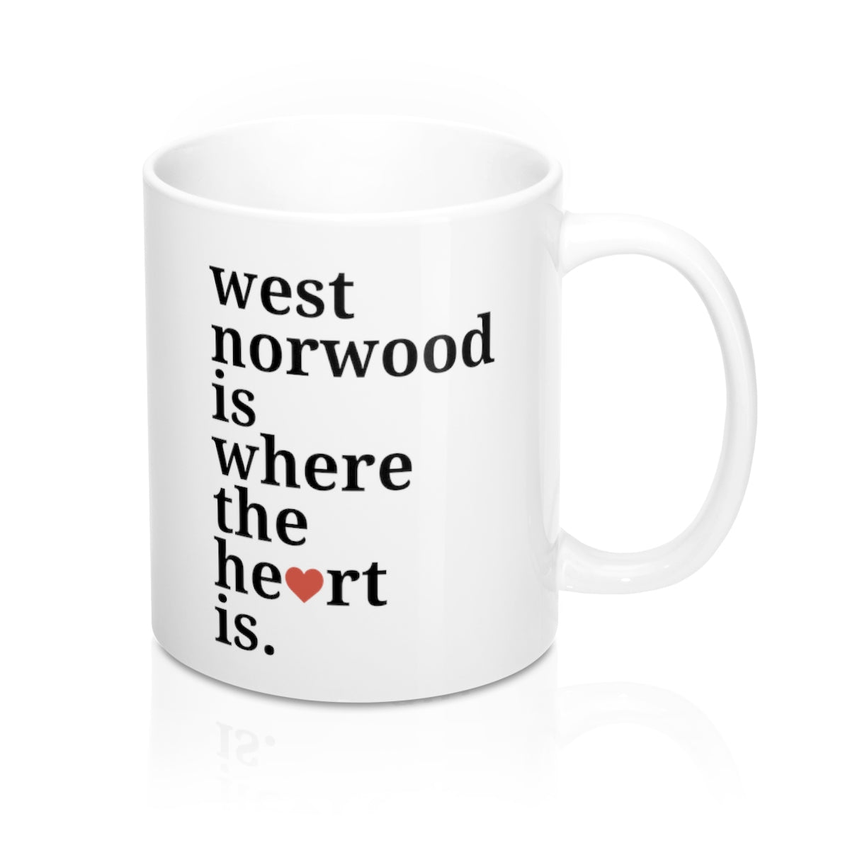 West Norwood is Where The Heart Is Mug