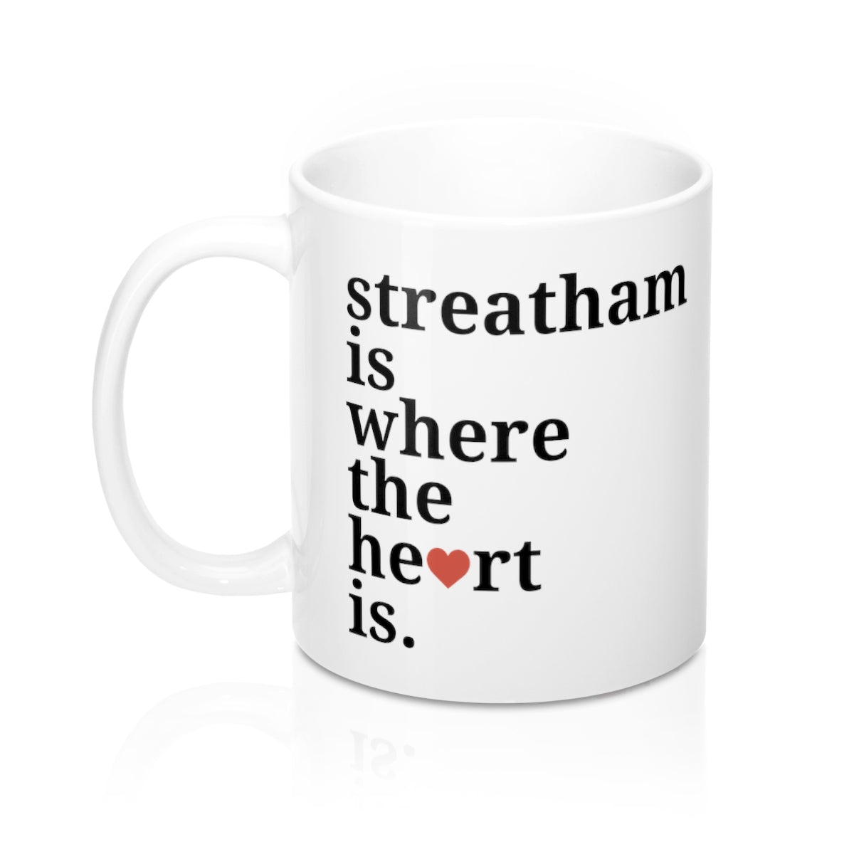 Streatham is Where The Heart Is Mug