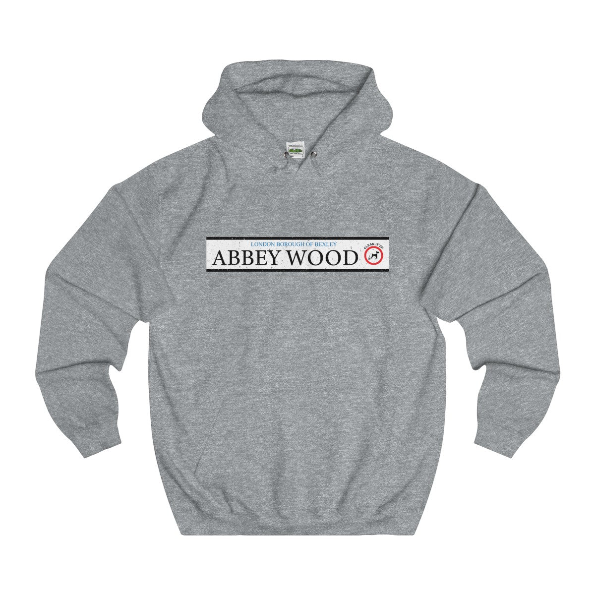 Abbey Wood Road Sign Hoodie