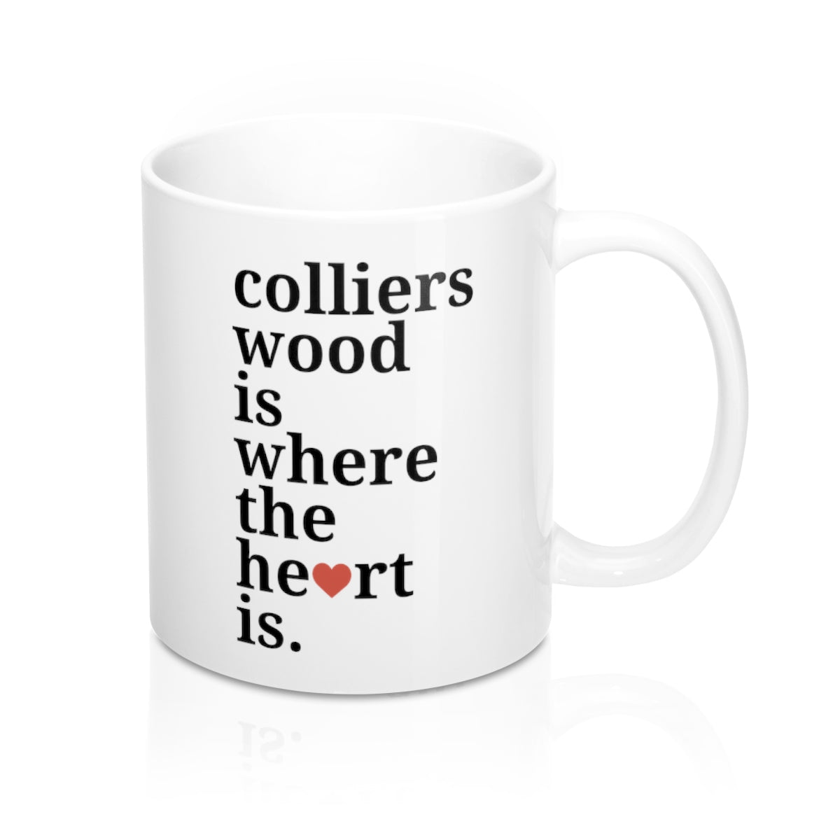 Colliers Wood Is Where The Heart Is Mug