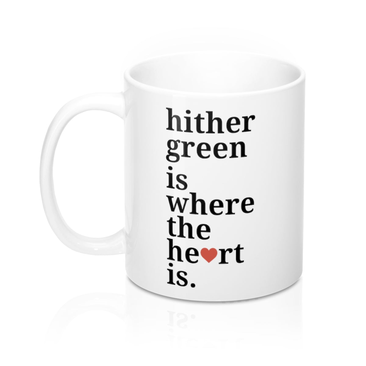 Hither Green is Where The Heart Is Mug