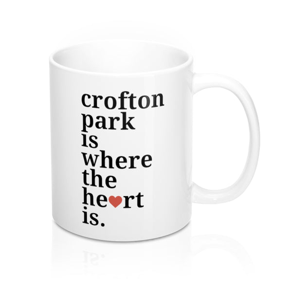 Crofton Park Is Where The Heart Is Mug