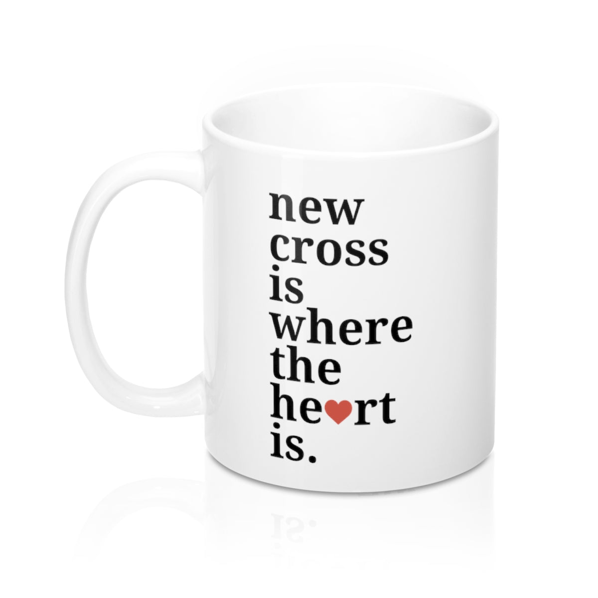 New Cross is Where The Heart Is Mug