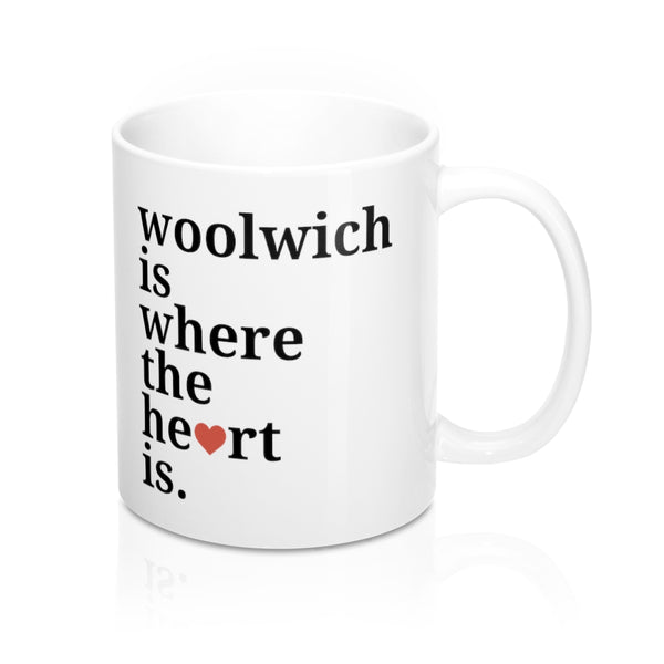 Woolwich is Where The Heart Is Mug