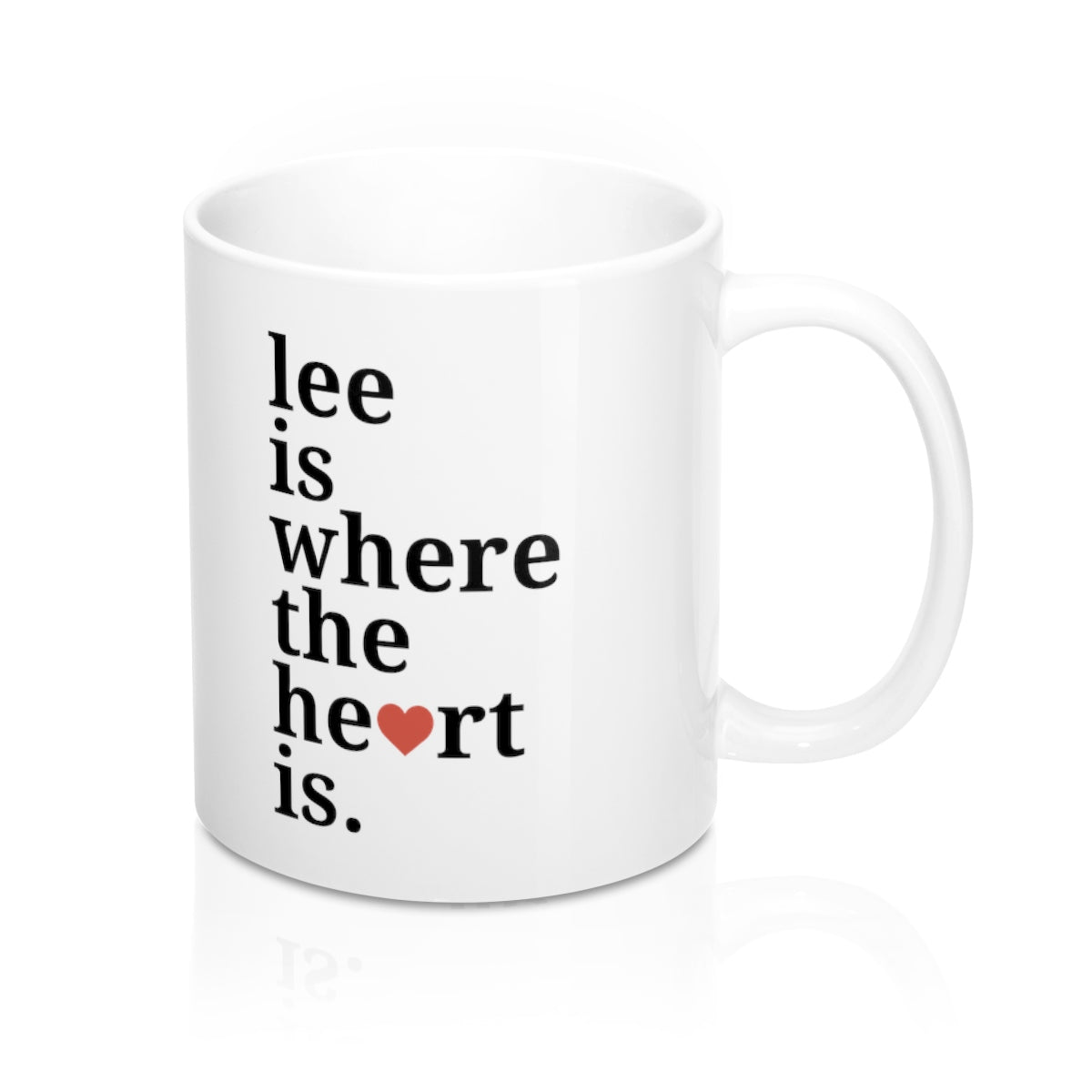 Lee is Where The Heart Is Mug