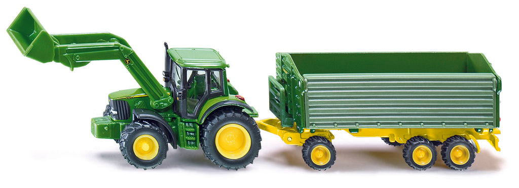 1/87 JOHN DEERE 6920S WITH FRONT LOADER AND TRAILER