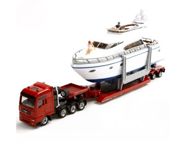 1/87 MAN HEAVY HAULAGE TRANSPORTER WITH YACHT