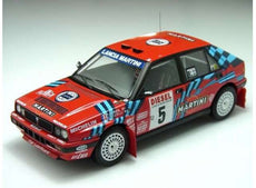 1989 Lancia Delta HF Integrale 16V #5 D.Oriol San Remo Rally *Diecast Sealed Body Series*, red/white/blue