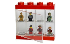 LEGO MINIFIGURE DISPLAY CASE 8 (19CM) - RED