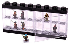 LEGO MINIFIGURE DISPLAY CASE 16 (38CM) - BLACK