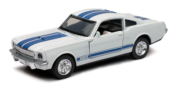 1/32 1966 SHELBY GT-350 WHITE/BLUE STRIPES