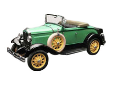 1/18 1931 Ford Model A Roadster Reseda Green  Diecast Model Car by SunStar