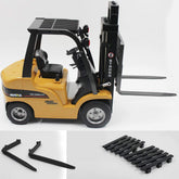 1/10 8CH Alloy RC Forklift Truck Crane Truck Construction Car Vehicle Toy with Sound Light Workbench Lift RTR