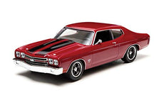 1/32 1970 CHEVY CHEVELLE SS RED/BLACK STRIPES