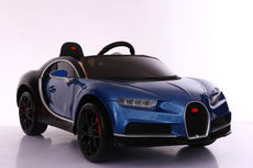 BUGATTI CHIRON STYLE RIDE ON CAR 12V WITH PARENTAL CONTROL - BLUE