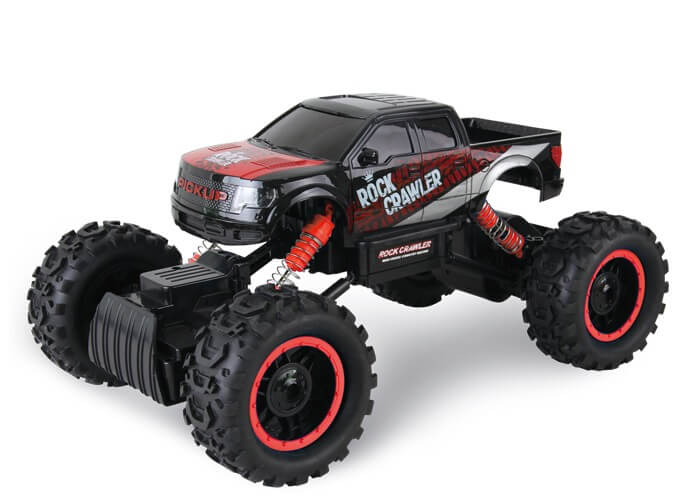 1/14 2CH 4WD Electric RTR Rock Crawler Off-road RC Car Dark Red with LED Light