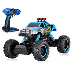 1/14 2CH 4WD Electric RTR Rock Crawler Off-road RC Car Blue with LED Light