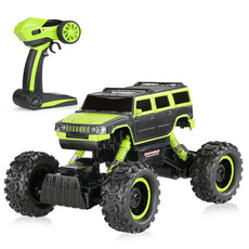 1/14 2CH 4WD Electric RTR Rock Crawler Off-road RC Car Green with LED Light