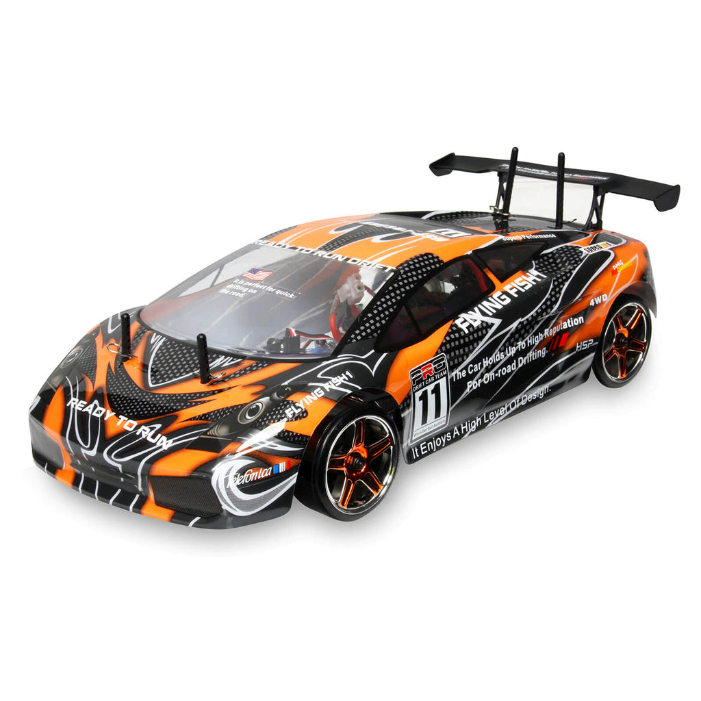1/10 2.4GHz Electric 4WD RTR Flying Fish RC Drift Race Car