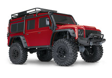Traxxas 1/10 Scale TRX-4 Scale and Trail Crawler with 2.4GHz TQi Radio,RED Yellow Grey