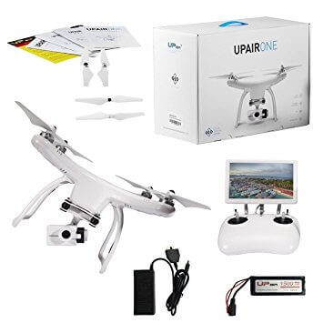 UPair One Plus Drone with 2.7K Camera, 5.8G FPV Monitor Transmit Live Video, GPS