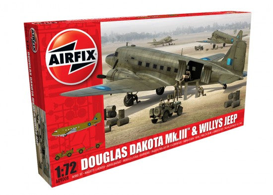 1/72 DOUGLAS DAKOTA MK.III & WILLYS JEEP