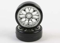 Tamiya #54021 - Metal-Plated Mesh Wheel w/Cemented Super Driftech
