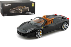 1/18 Hot Wheels Ferrari 458 Spider Diecast Model Car Dark Blue