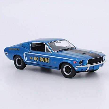 1/18 FORD MUSTANG 2+2 FASTBACK 'GO GO GONE' BLUE 1968