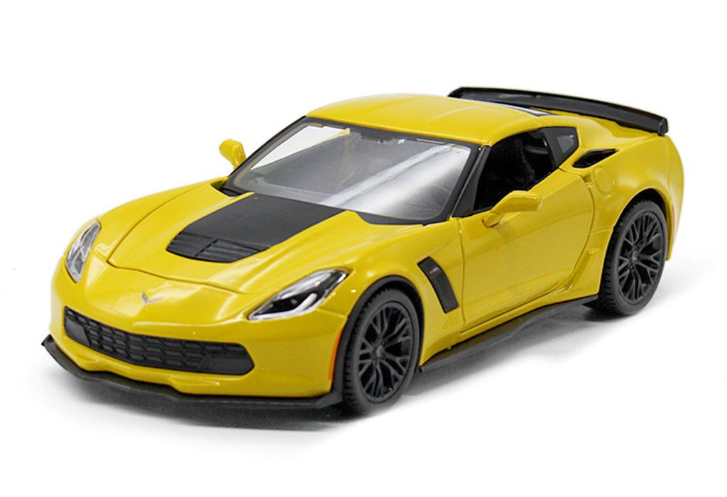 1/24 CHEV CORVETTE STINGRAY C7 COUPE YELLOW WHITE
