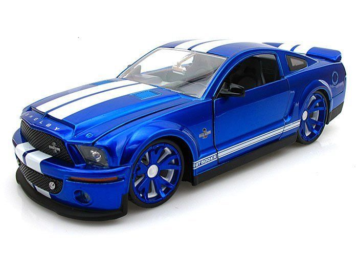 1/24 2010 FORD MUSTANG GT BLUE/WHITE STRIPES BIGTIME KUSTOMS