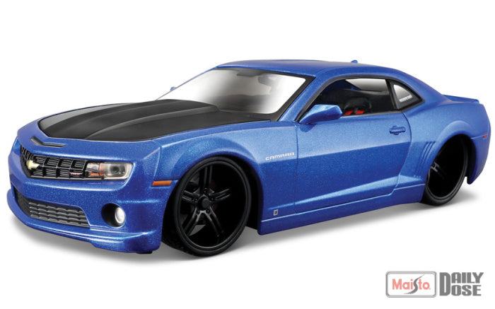 1/24 2010 CHEVROLET CAMARO SS RS BLUE MODERN MUSCLE