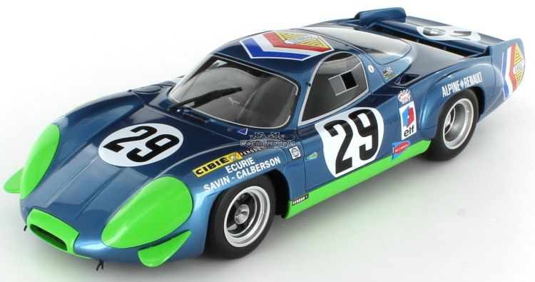 1/18 RENAULT ALPINE A220 LE MANS 1969 BLUE WITH GREEN