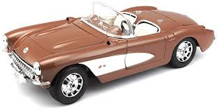 Maisto - 1/18 1957 CHEVROLET CORVETTE - Brown