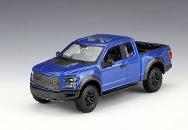 1/24 2017 FORD F-150 RAPTOR SILVER/BLUE