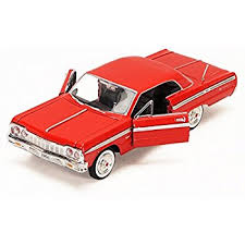 1/24 1964 CHEVY IMPALA RED BIGTIME KUSTOMS
