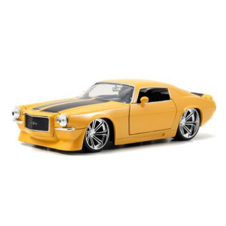 1/24 1971 CHEVY CAMARO YELLOW/BLACK BIGTIME MUSCLE