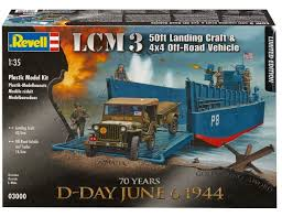 1/35 ECM3 50FT LANDING CRAFT & 4X4 OFF ROAD VEHICLE