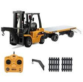 1/10 10CH Alloy Rc Forklift Truck Crane 3in1 with Flat-bed trailer(2.4G)