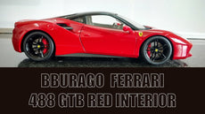 Ferrari 488 GTB Red 1/18 Diecast Model Car by Bburago