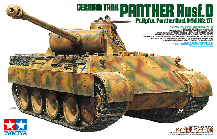 1/35 GERMAN TANK PANTHER AUSF.D NO. 345