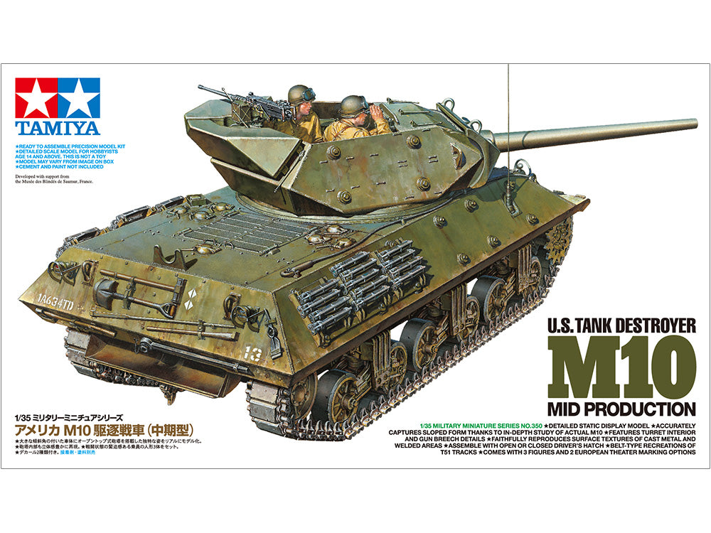1/35 U.S. TANK DESTROYER M10 MID PRODUCTION NO. 350