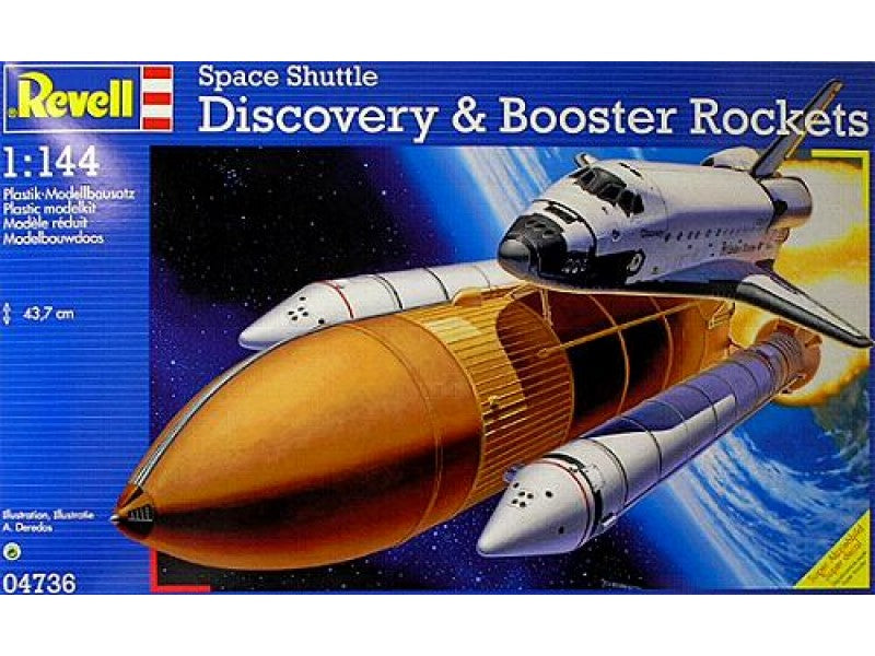 1/144 SPACE SHUTTLE DISCOVERY & BOOSTER ROCKETS