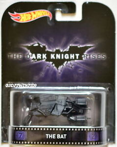 "1/64 BATMAN, THE DARK KNIGHT RISES: THE BAT ""HOTWHEELS RETRO ENTERTAINMENT"""