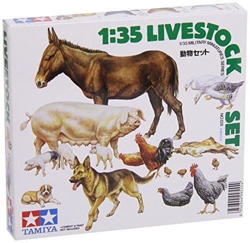 Tamiya - 1/35 Military Miniatures Livestock Set