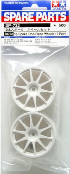 Tamiya 50732 1/10 RC Car 26mm 10-Spokes One Piece Wheels (2pcs)
