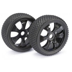 On road buggy tyres black 1:8 (2 pcs)