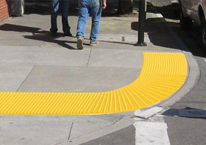 Detectable Warning Cast in Place Truncated Dome Replaceable RADIUS by ADA Solutions - Detectable Warning Panels