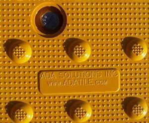 Detectable Warning Cast in Place Truncated Dome Replaceable by ADA Solutions - Detectable Warning Panels